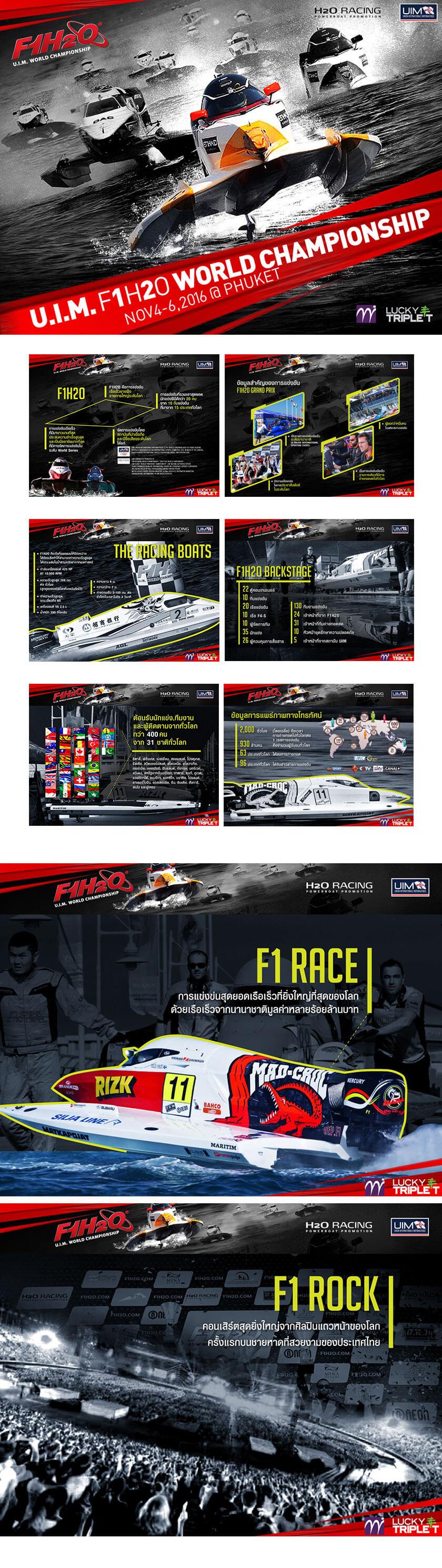 ออกแบบ Proposal F1 H2O | MeDee - บริษัทรับทำเว็บไซต์ กราฟฟิกดีไซน์