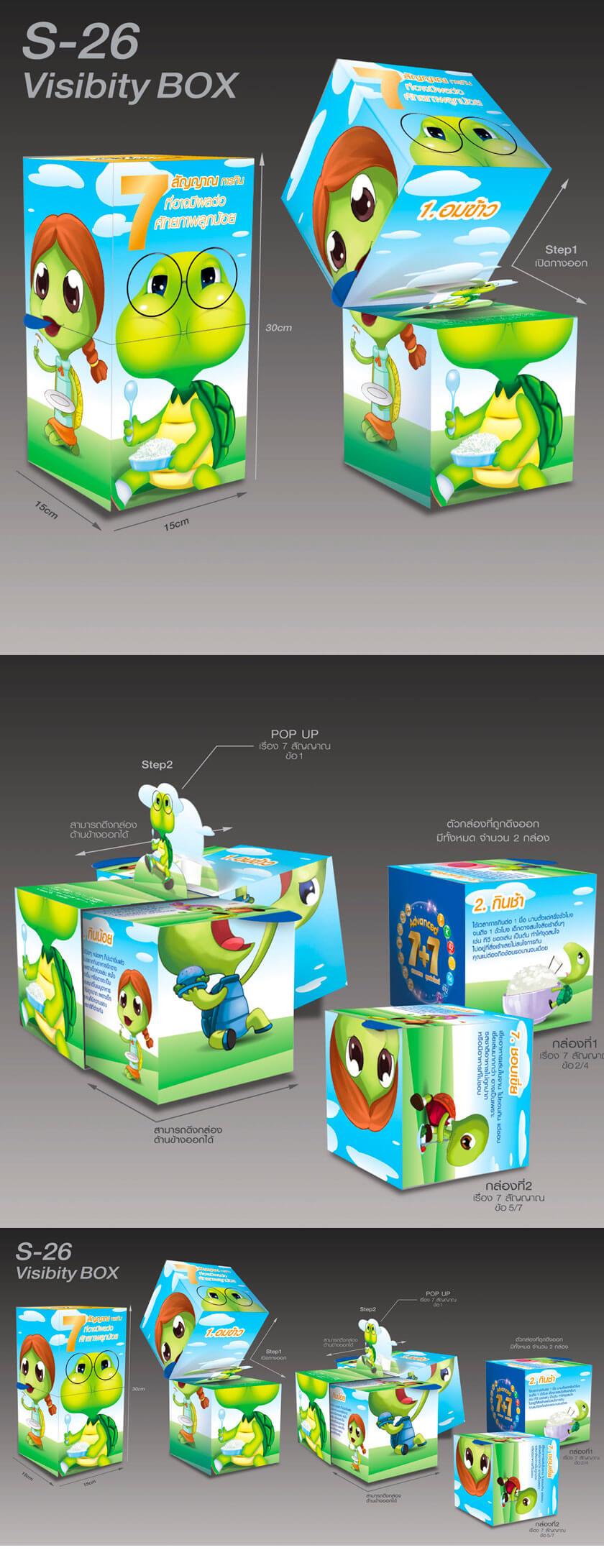 ออกแบบดีไซน์ ของเล่นเด็ก รูปแบบPackaging design พร้อมลูกเล่น POP UP ในการใช้งานในรูปแบบสิ่งพิมพ์เพิ่มกราฟฟิกให้น่าสนใจ สีสันสดใสดึงดูดสายตา