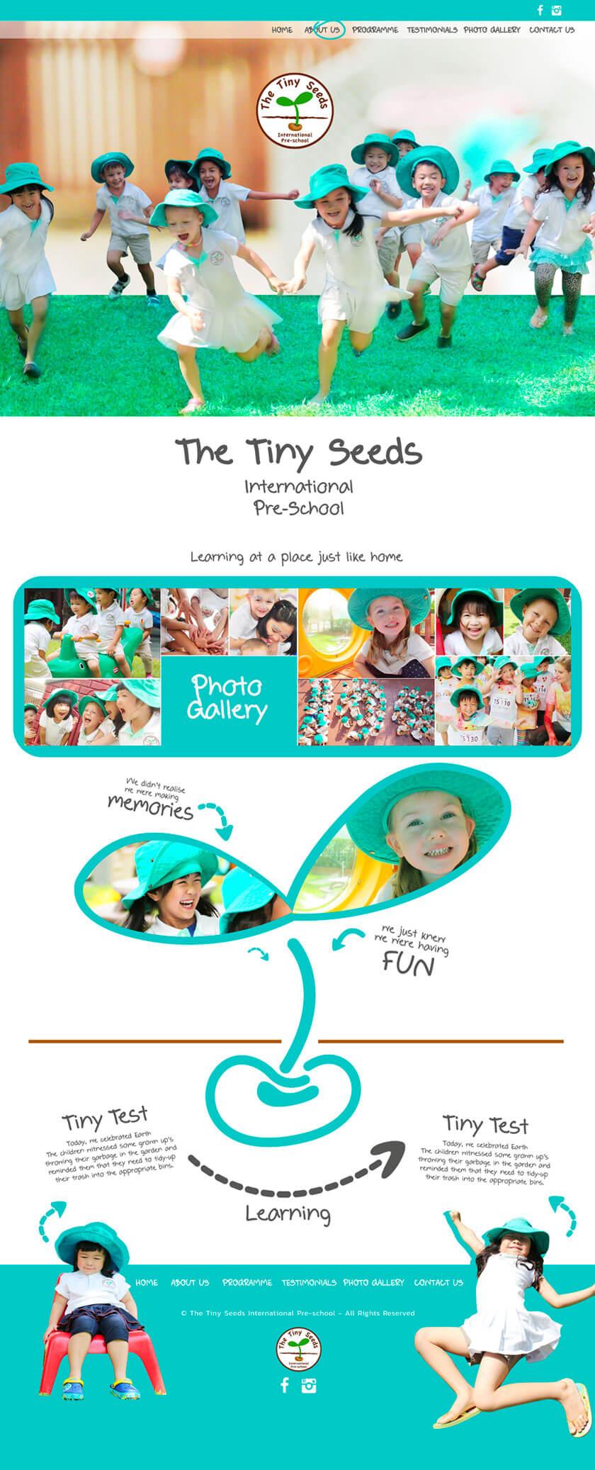 The-Tiny-Seeds School - ผลงานออกแบบเว็บไซต์โรงเรียน โดยทีมงาน MeDee