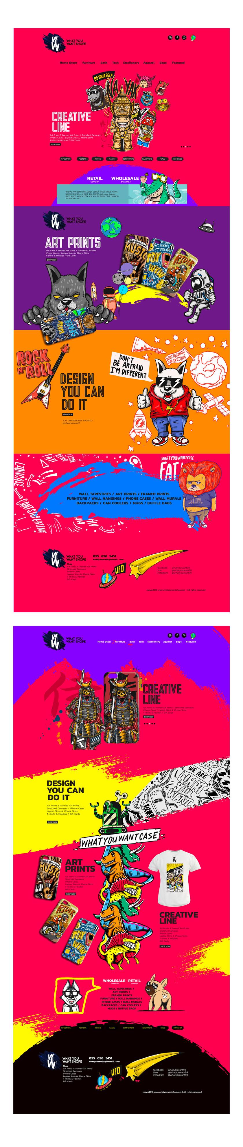 ออกแบบ ดีไซน์ เว็บไซต์ Responsive บนมือถือ ระบบ e e commerce Ad facebook