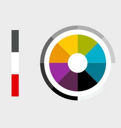 กำหนดสีในการออกแบบเว็บ company Profile